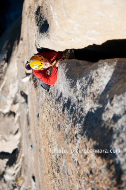 David Bacci su Freerider, El Capitan, Yosemite