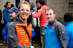 Simone Moro and Denis Urubko at the European Mountain Meeting at Vielha