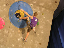 Jakob Schubert competing in the Final at Kranj