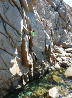 Maurizio Oviglia and Massimo Gessa during the first ascent of