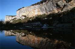 The crag Buoux in Southern France