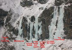 Le cascate della bastionata della Torre