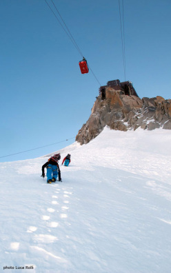 Voie Mallory: great Aiguille du Midi extreme skiing season start