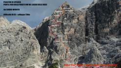 Sogno infinito (730m, TD+, VI/A1, Walter Polidori e Simone Rossin 2012), Pilastro di Spescia (Sasso delle Dieci,) Dolomiti