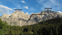Sasso delle Nove and Dieci, Cunturines group, Dolomites