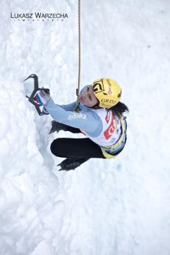 Coppa del Mondo di arrampicata su ghiaccio: Maria Tolokonina