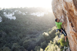 Paolo Spreafico climbing in the province of Siracusa