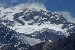 Aconcagua, the highest mountain in South America.