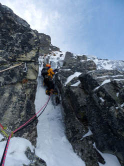 08-09/12/2012: establishing new routes on the North Face of Spallone Pizzo del Becco