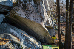 Michele Caminati climbing North Sail 8A+ at Cresciano