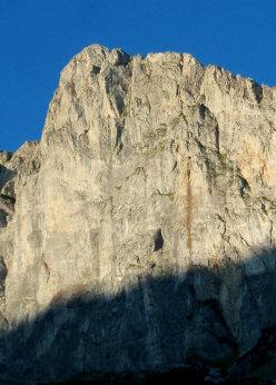 La parete NE dello Scarason