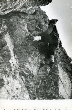 Elio-Mastroianni nel primo tentativo alla NE dello Scarason nel 1956