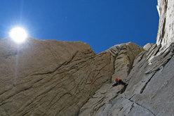 Cerro Piergiorgio, Patagonia, 'La Routa de l'Hermano' (950m, 6b+ A3 ED+).
