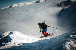From 17 - 20/01/2013 the second stage of the Swatch Freeride World Tour by The North Face will take place in Courmayeur, Italy. This image was taken during the first stage at Revelstoke in Canada.