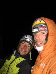 Cristian Brenna & Hervé Barmasse. Cerro Piergiorgio, Patagonia, 'La Routa de l'Hermano' (950m, 6b+ A3 ED+).