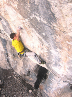 Alessandro Zeni climbing Drumtime 8c+, Fonzaso