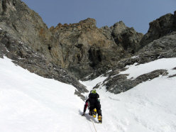 Reaching the start of the gully