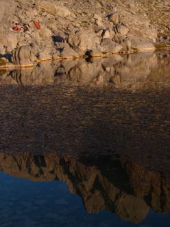 Il bivacco al lago Karagöl.