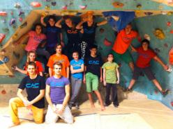 French climbers: Solène Mienne, Gauthier Clerc, Léna Bourdeau, Maxime Rozé, Léo Coral, Laureen Raginel, Tess Rougemont, Nathan Biotte e Raphaël Castanier