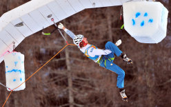 Markus Bendler, 4th at Rabenstein during the 3rd stage of the Ice Climbing World Cup 2013