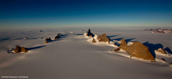 The view from the summit of Ulvetanna (2931m) in the Antarctic.