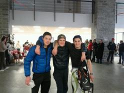 Podio Under 18 Maschile del Devero Ski Alp: Marcello Ugazio, Davide Iacchini, Davide Marchi
