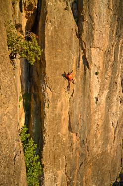 Maurizio Oviglia climbing the new route