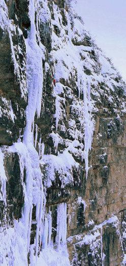 Gladiator, nuova cascata di ghiaccio in Valle Riofreddo