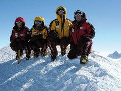 Il gruppo dei militari in cima al Mt. Vinson