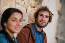 Daila Ojeda and Chris Sharma at Santa Linya