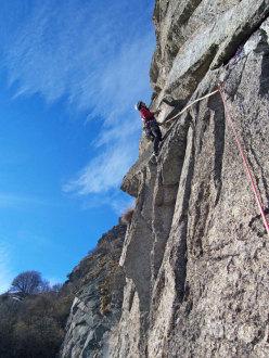 Sul 3° tiro della via Motti - Grassi alla Rocca Sbarua