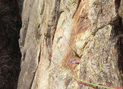 Il passo chiave della Motti - Grassi alla Rocca Sbarua