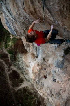 James Pearson climbing Deverse Royale 8c+ at Geyikbayiri in Turkey