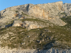 The new crag Lamda on the island of Telendos, Kalymnos, Greece