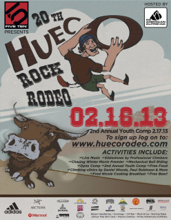 The 20th Hueco Rock Rodeo took place from 16-17 February 2013 at Hueco Tanks