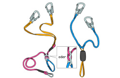Rope friction based via ferrata set