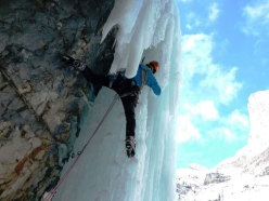 Beppe Ballico on pitch 4 of Attraverso Travenanzes