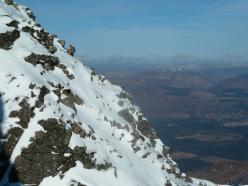 Coire an Lochain, Aonach Mòr, Lochaber: su Morwind, al Coire an Lochain.