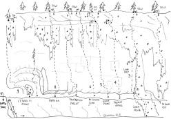 Luna park, falesia di drytooling sull'Altopiano di Asiago (VI).