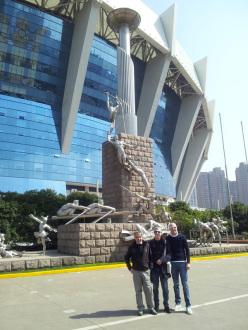 The Italian delegation in Shanghai: Angelo Seneci, Roberto Bresciani, Stefano Tamburini