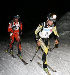 Guido Giacomelli (davanti) e Hansjorg Lunger, detentori del record segnato l'anno scorso e favoriti per la vittoria anche quest'anno.