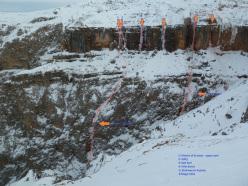 Gola di Siusi, Sciliar e le e nuove cascate aperte da Philipp Angelo, Thomas Gianola e Mario Fonzo.