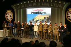 All the winners of the first edition of the Saint Vincent Award dedicated to mountain professionals.