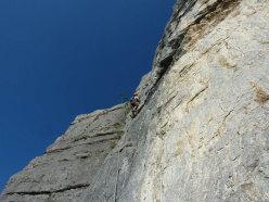Sulla via L'aspettativa dei mondi superiori (Monte Brento)