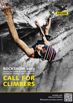 Salewa Rockshow 2013: call for climbers