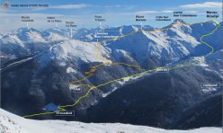 The ski mountaineering itinerary Monte Rinalpi