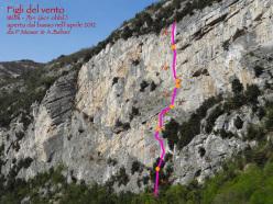 Figli del Vento (180m, 7b+), Santa Massenza: