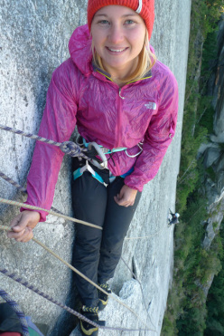 English rock climber Hazel Findlay