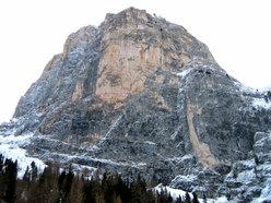 Meisules de la Bièsces parete Sud Ovest (Sella, Dolomiti)