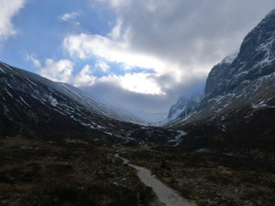 Approaching the N Face of Ben Nevis